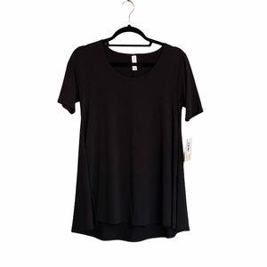 LuLaRoe PERFECT T Solid Black Noir Size XXS NWT